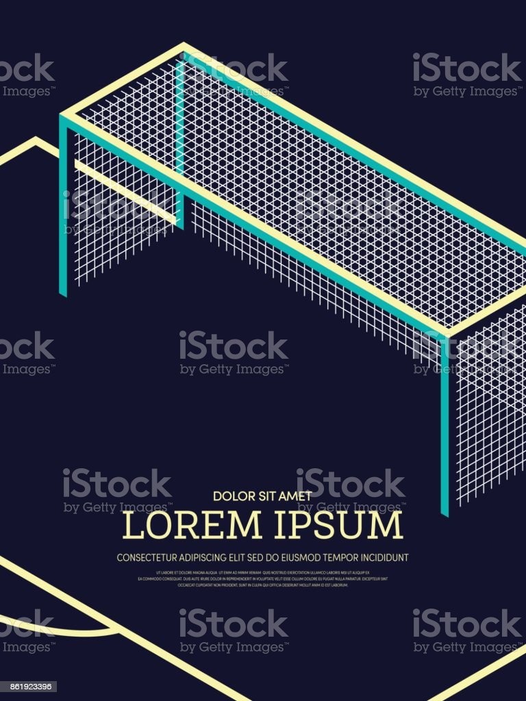 Abstract football soccer field poster background vector art illustration