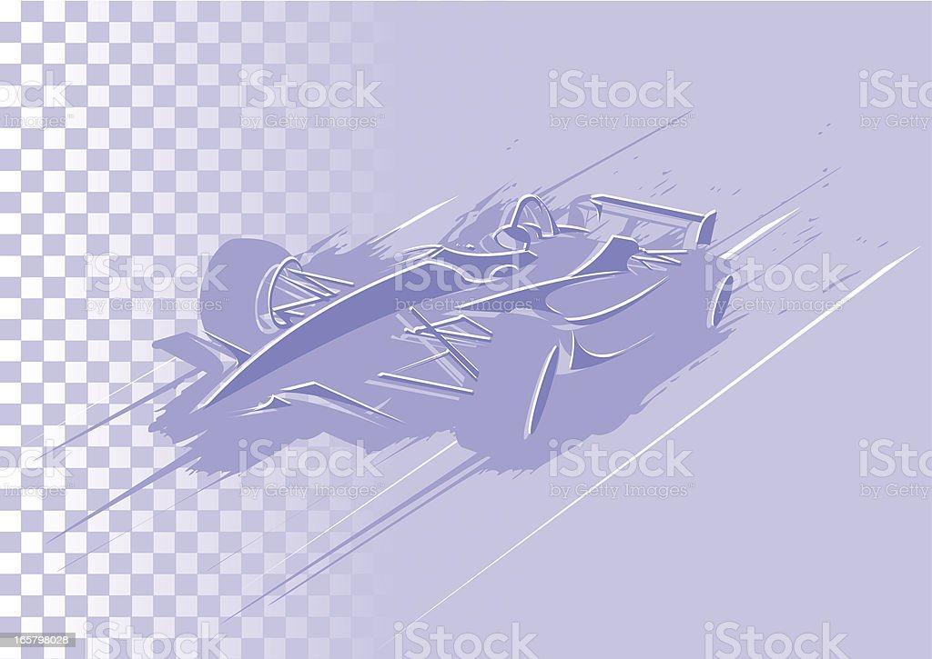 Abstract formula car vector art illustration