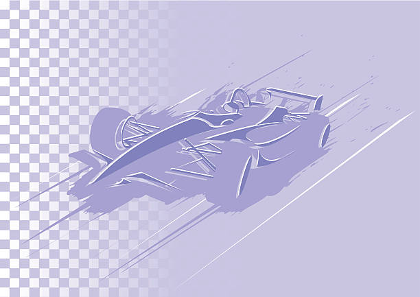Abstract formula car Colors can be easily changed. indy racing league indycar series stock illustrations
