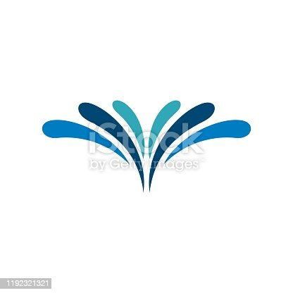 Abstract Fountain of Water Logo  Illustration Design. Vector EPS 10.