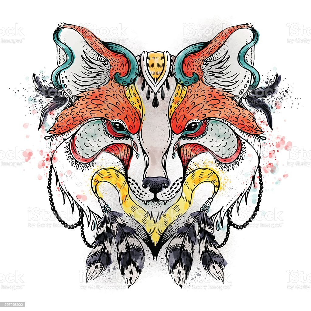 Abstract fox royalty-free abstract fox stock illustration - download image now