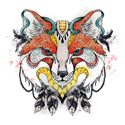 Abstract Fox Stock Illustration - Download Image Now
