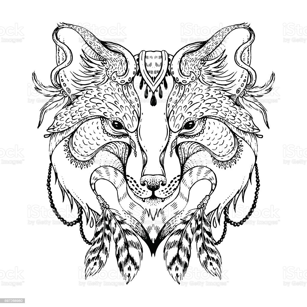 Abstract fox royalty-free abstract fox stock vector art & more images of abstract