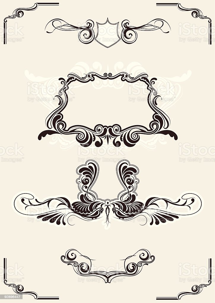 Abstract frame elements royalty-free stock vector art