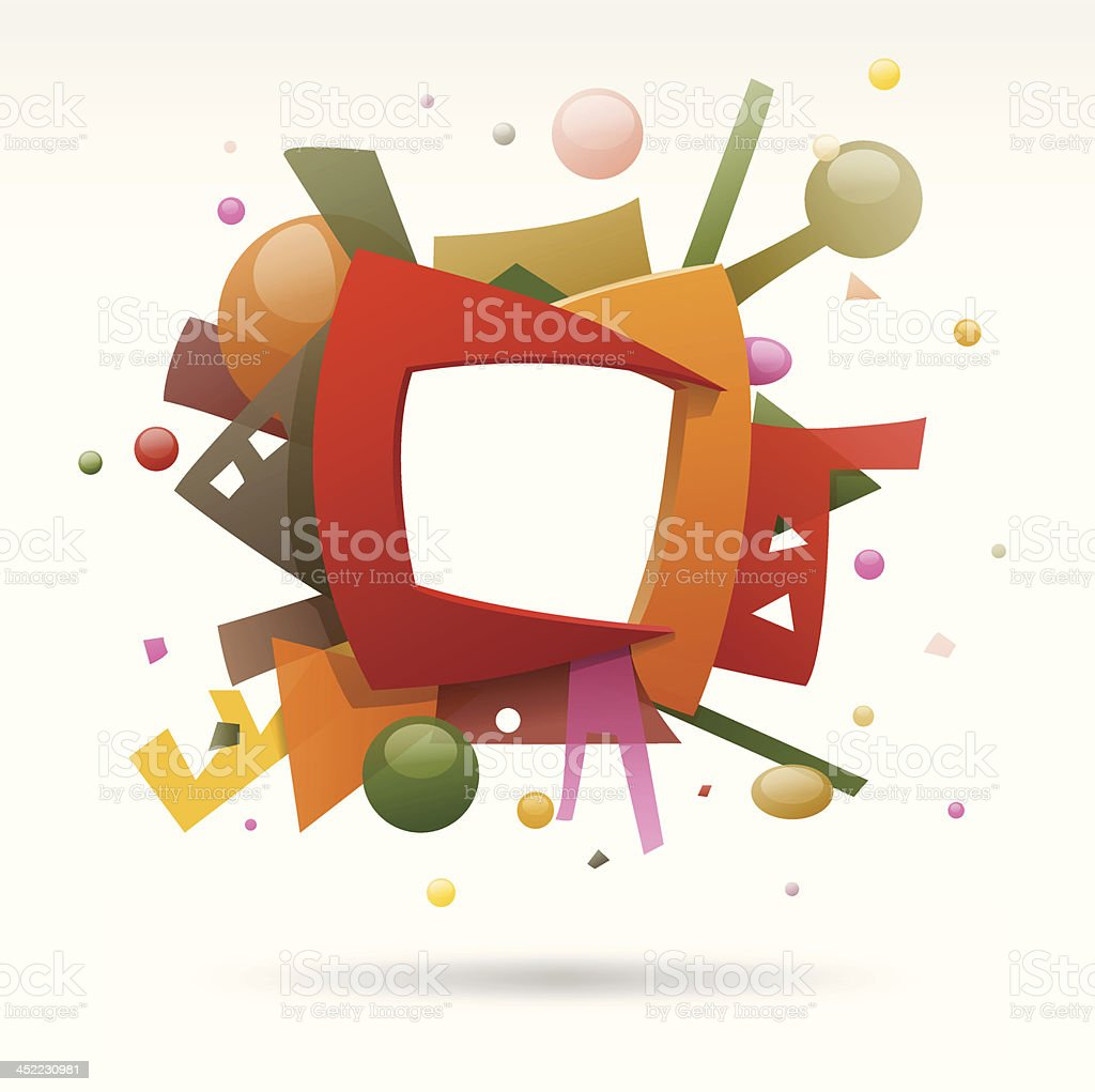 Abstract frame royalty-free stock vector art