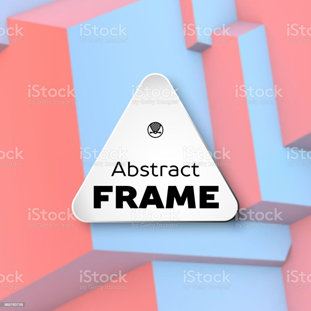 Abstract frame with rose quartz and serenity cubes abstract frame with rose quartz and serenity cubes - stockowe grafiki wektorowe i więcej obrazów 1980-1989 royalty-free