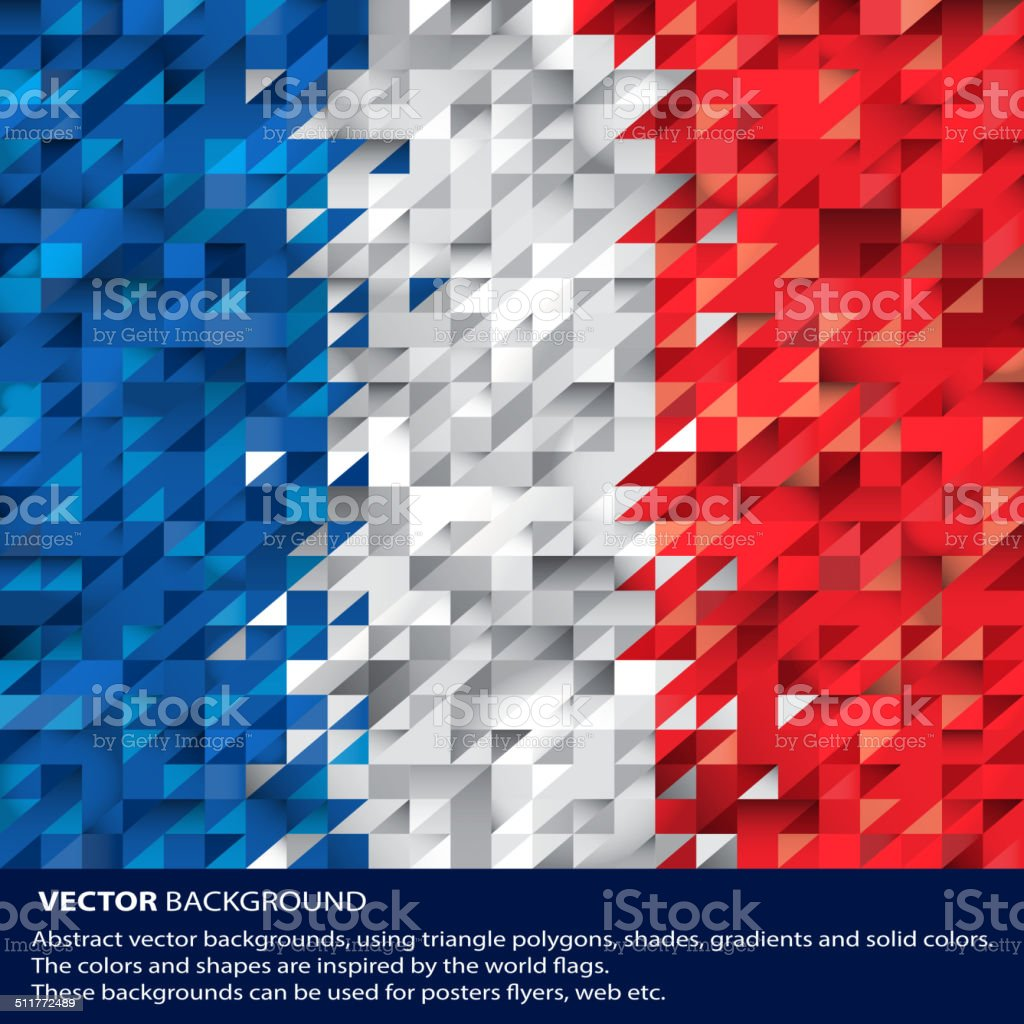 Abstract France Background, French Flag (vector Art) vector art illustration