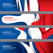 Abstract French Flag Background, France Art(Vector Art)