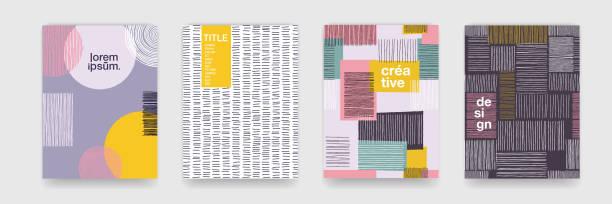 Abstrakte Spaß Farbe Muster Cartoon Textur für Doodle geometrischen Hintergrund. Vektorform Trend für Prospekt-Cover-Vorlage-design – Vektorgrafik