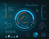 istock Abstract future, concept vector futuristic blue virtual graphic 695858510