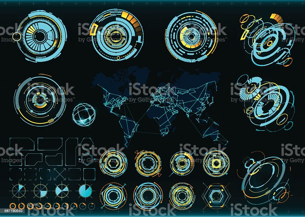 Abstract future, concept vector futuristic interface vector art illustration