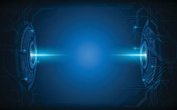 Abstrakte zukünftige Technologie Vision design-innovation Konzept Hintergrund – Vektorgrafik