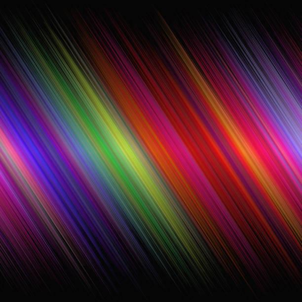 ilustraciones, imágenes clip art, dibujos animados e iconos de stock de resumen antecedentes futurista con brillantes con franjas diagonales - fondos coloridos