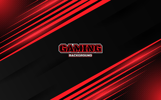 Abstract Futuristic Black And Red Gaming Background With Modern Esport Shapes Vector Design Template Technology Concept Stock Illustration Download Image Now Istock