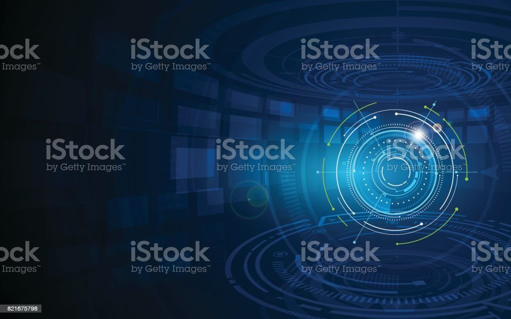 abstract futuristic circle sci fi technology innovation concept  background vector art illustration