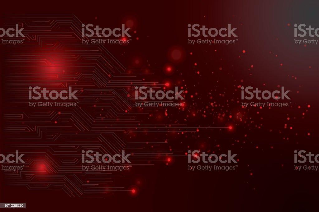 Abstract futuristic circuit board vector art illustration