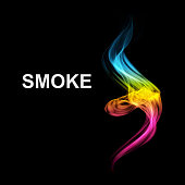 Abstract futuristic colorfull smoke background.