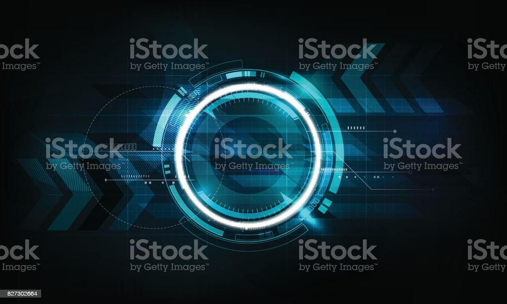 Abstract futuristic electronic circuit technology background, vector illustration vector art illustration