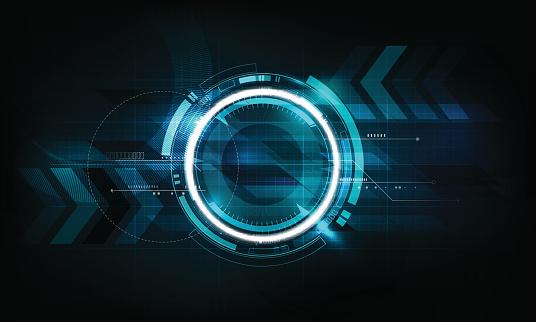 Abstrakte Futuristische Elektronische Schaltung Technologie Hintergrund Vektorillustration Stock Vektor Art und mehr Bilder von Abstrakt