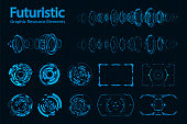 Abstract futuristic Elements Pack.Future concept.vector and illustration