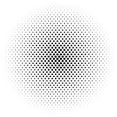 Abstract futuristic halftone pattern. Comic background. Dotted backdrop with circles, dots, point large scale. Design element for web banners, posters, cards, wallpapers, sites. Black and white color