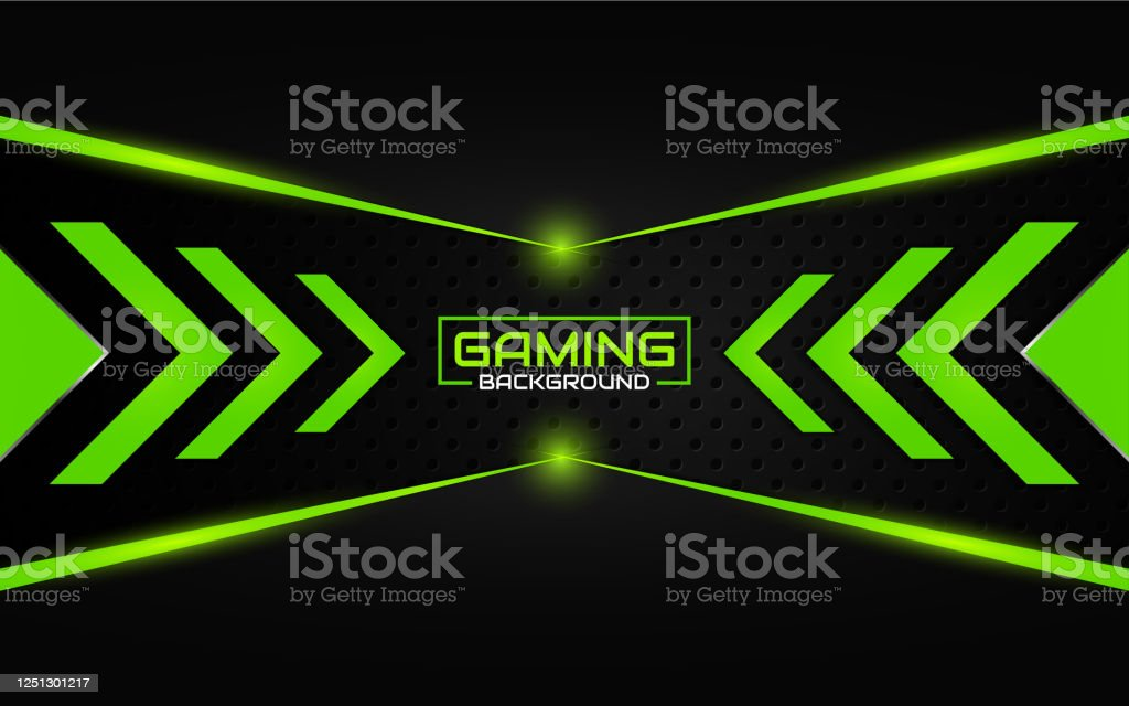 abstract futuristic metallic on black gaming background with modern vector id1251301217