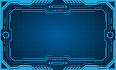 Abstract Futuristic Presentation Panel (Frame), Technology Display - Illustration Vector
