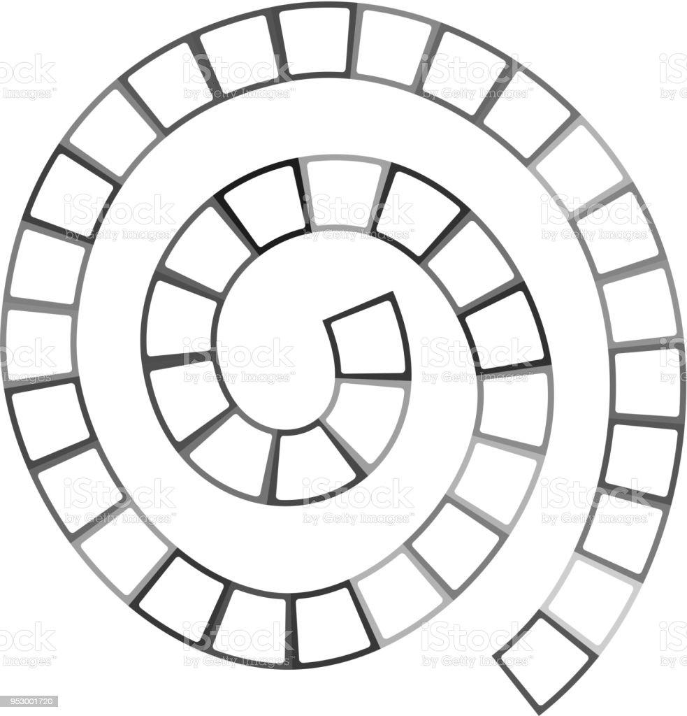 Abstrakte Futuristische Spirale Labyrinth Quadrate Muster Vorlage ...