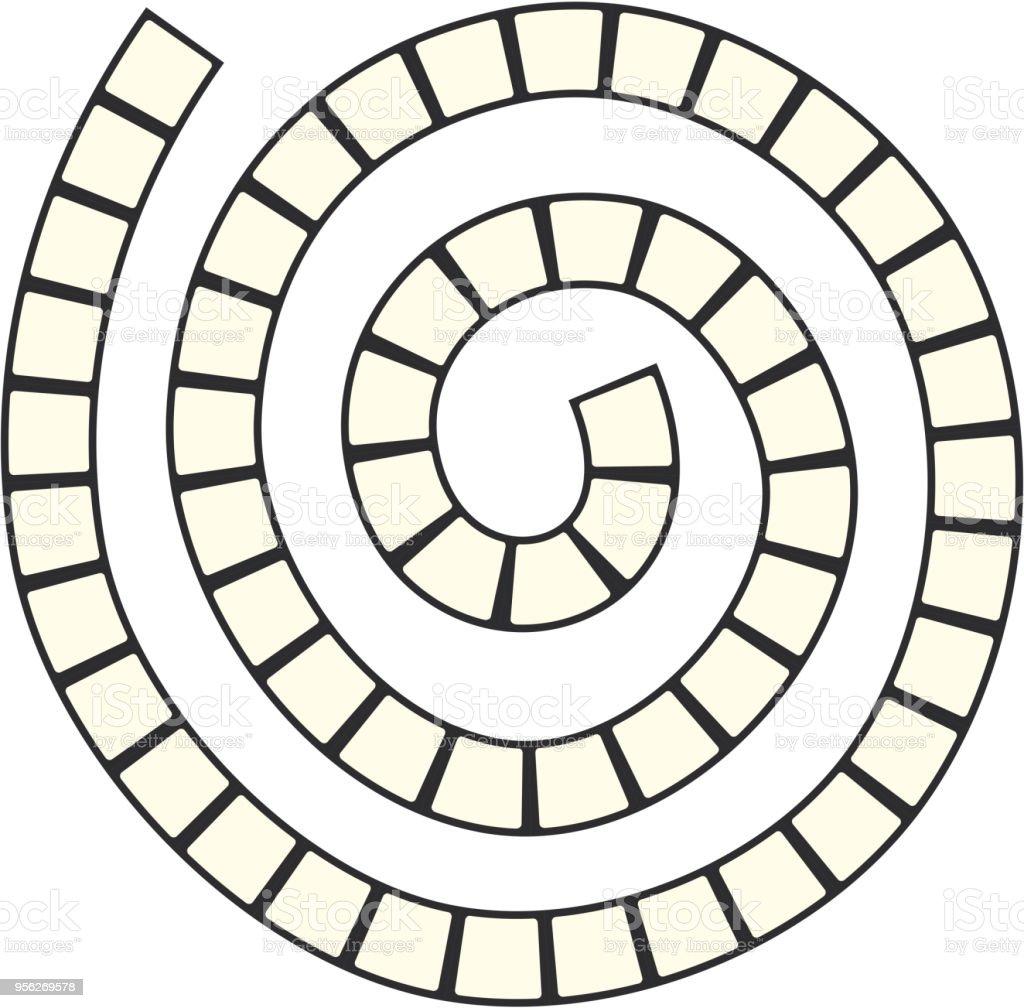 Ilustración de Laberinto Espiral Futurista Abstracta Plantilla De ...