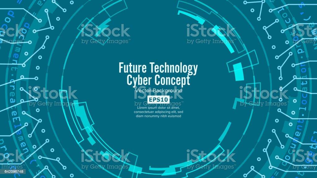 抽象的な未来技術背景ベクトルセ...