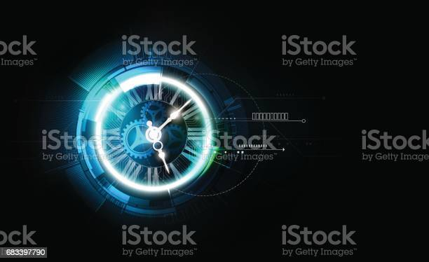 Abstract futuristic technology background clock concept time machine vector id683397790?b=1&k=6&m=683397790&s=612x612&h=ezivrqyemucz8p nez3vv64u0i3k v5ugs9giv49nts=