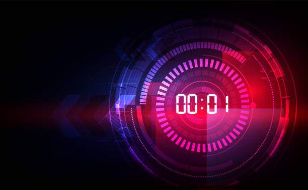Abstract Futuristic Technology Background mit digitalem Nummerntimer-Konzept und Countdown, Vektor transparent – Vektorgrafik