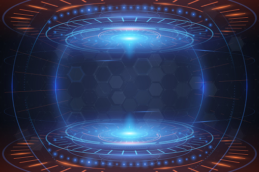 Abstract futuristic technology interface background