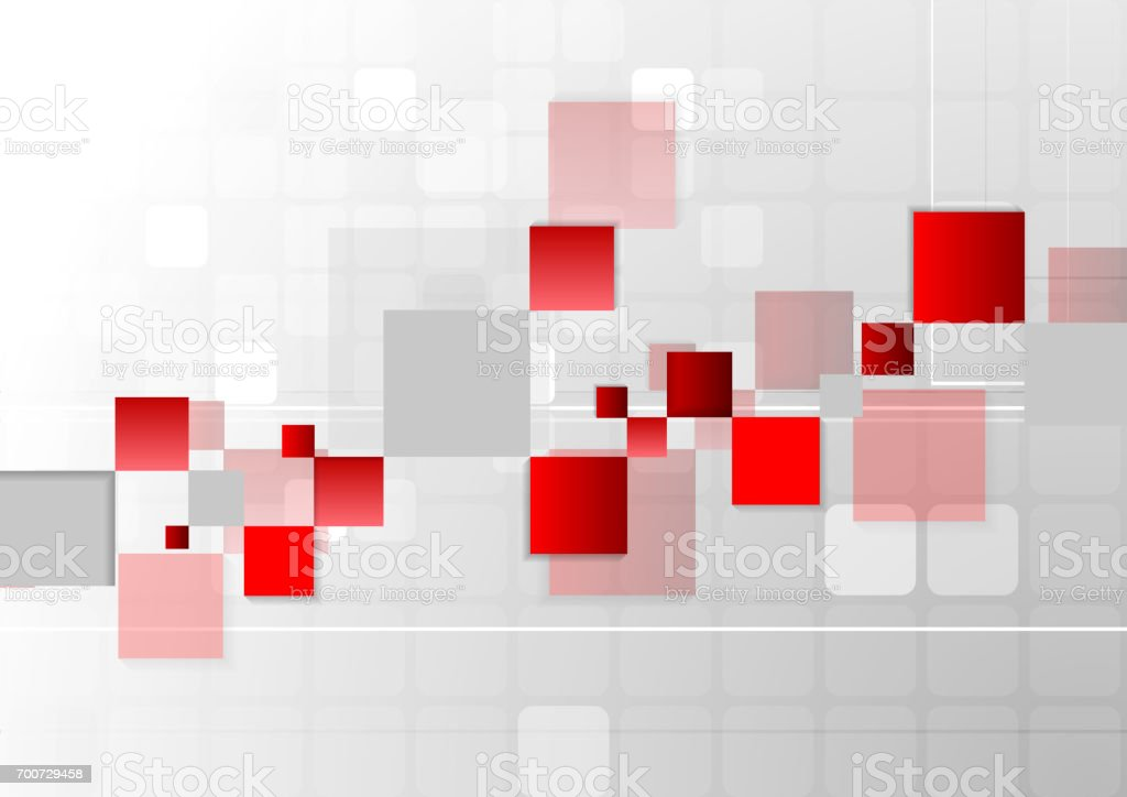Abstract futuristic technology red grey background vector art illustration