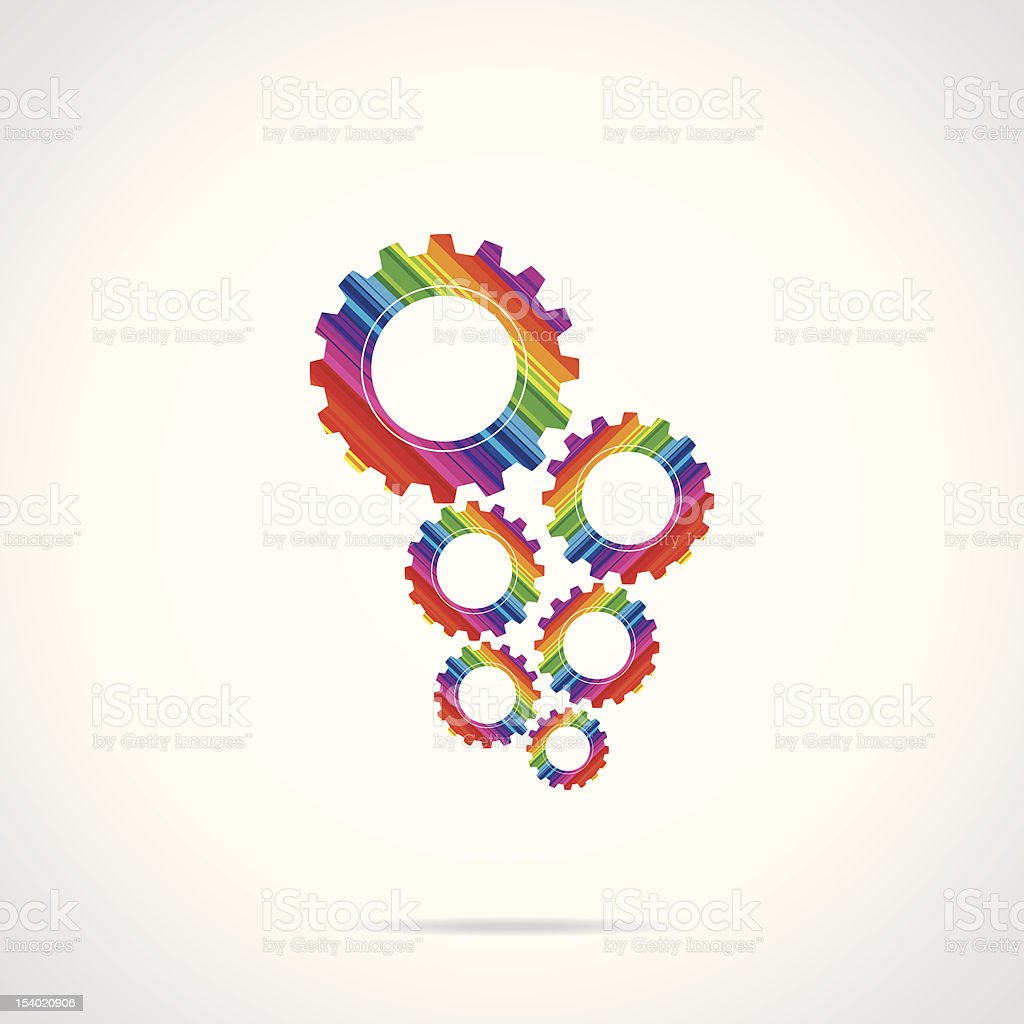 abstract gear royalty-free stock vector art