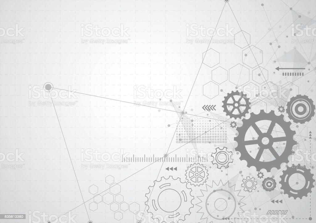 Abstract Gear Wheel Mechanism Background. Machine Technology. Vector  Illustration Vector Art Illustration · Blueprint Engine ...