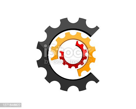 istock Abstract gear with different colors 1271848822