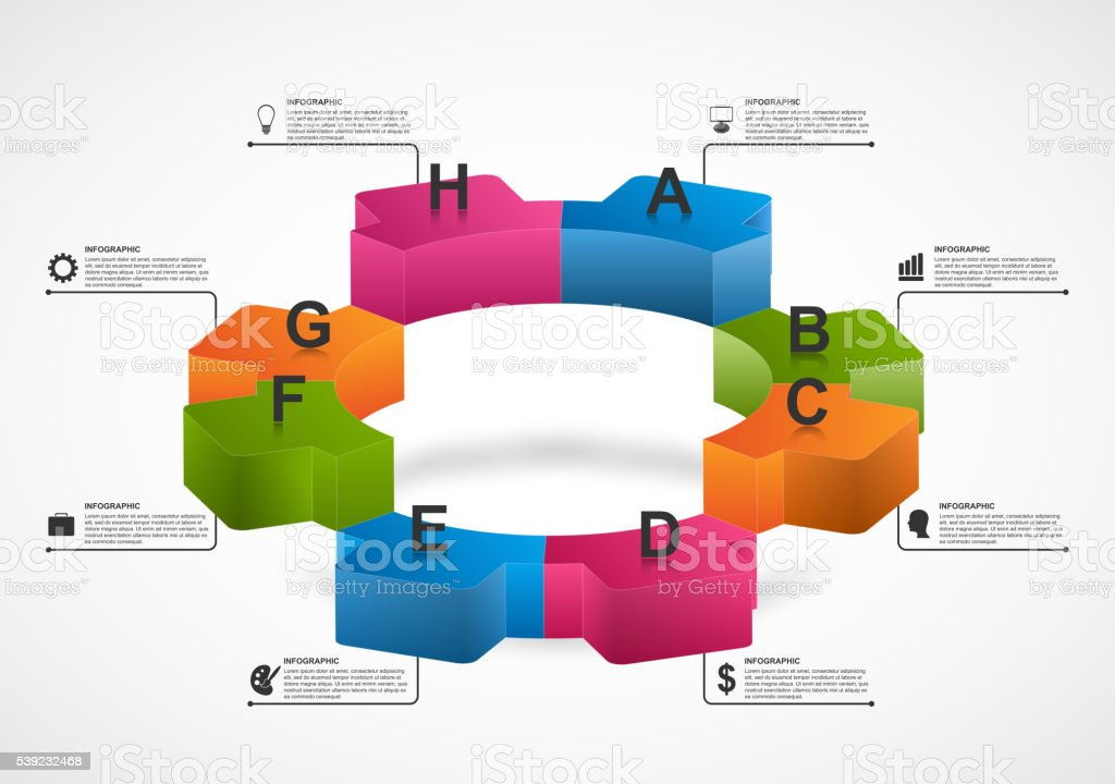 Abstract gears infographic. Design element for presentation, website, flyers, brochures. royalty-free abstract gears infographic design element for presentation website flyers brochures stock vector art & more images of abstract