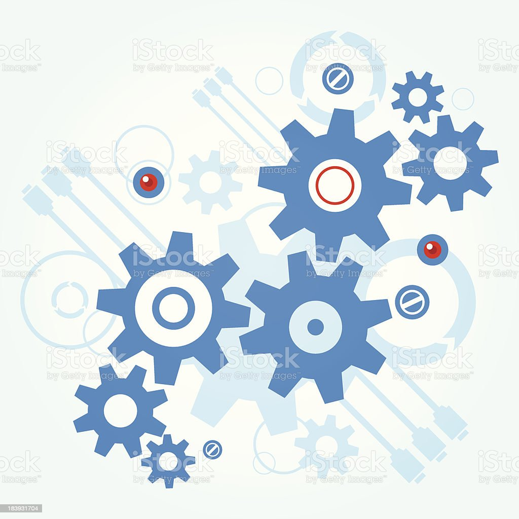 Abstract gears royalty-free stock vector art