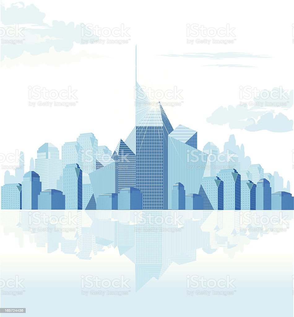 Abstract Generic Downtown vector art illustration