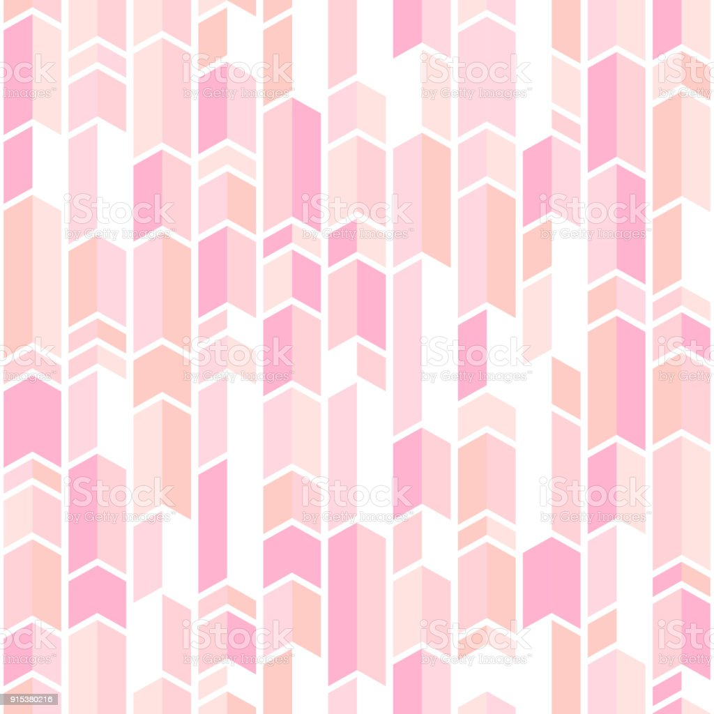 Abstract Geo Pattern In Blush Pink Colors Stock Vector Art & More ...