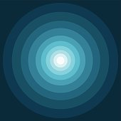 Abstract geometric 3D spiral element. Vector illustration