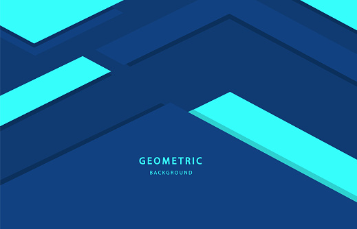 Abstract Geometric Background Blue Color For Design Wallpaper For Web Page And Laptop Stock Illustration Download Image Now Istock