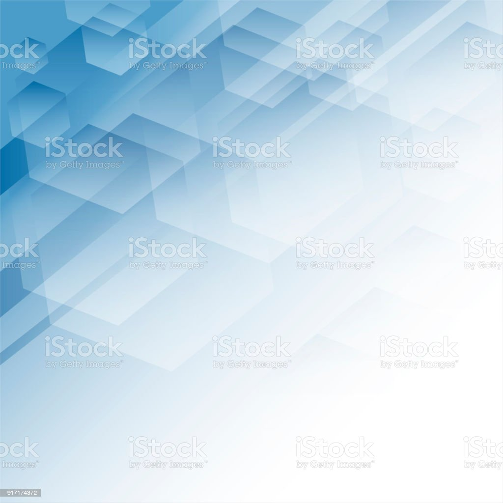 Abstract Geometric Background, Blue vector art illustration