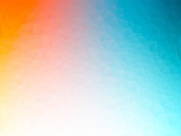 illustrazioni stock, clip art, cartoni animati e icone di tendenza di abstract geometric background blurred color gradient - ice on fire
