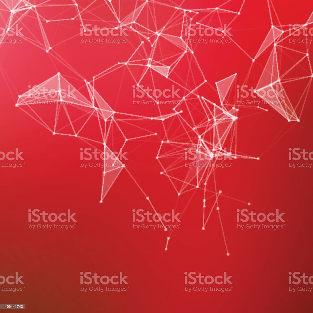 Abstract geometric background. Connecting dots with lines. vector art illustration