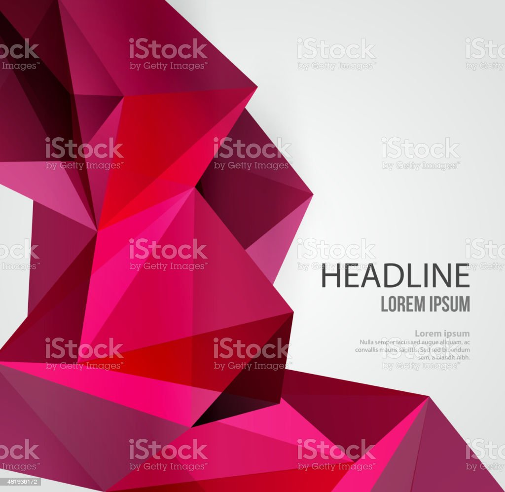 Abstract Geometric Background Design vector art illustration