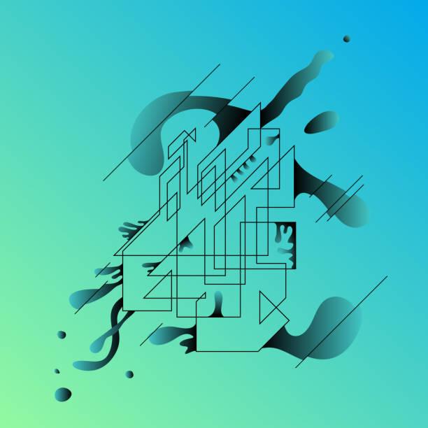 抽象幾何背景。設計項目。現代抽象。向量藝術插圖