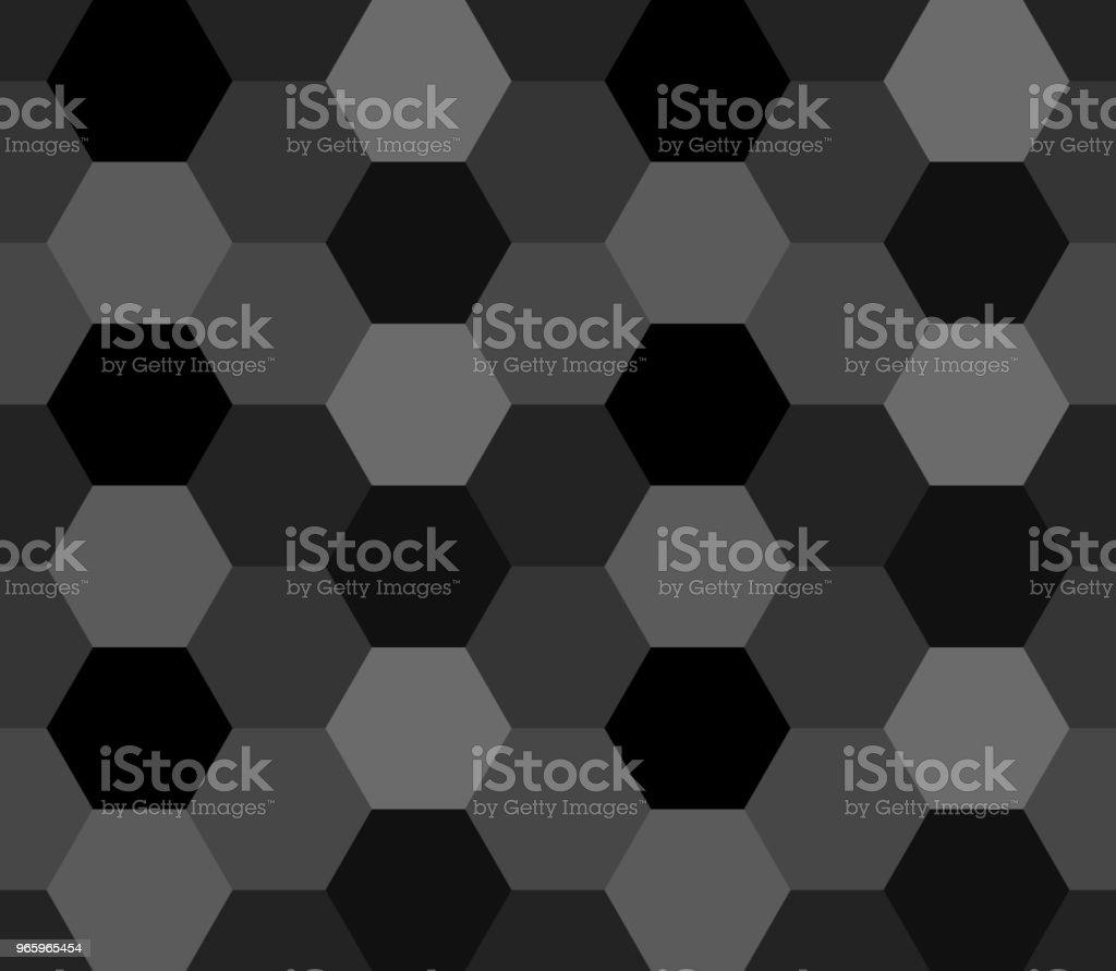 abstrakten geometrischen Hintergrund. Sechseck-Formen. Vektor Musterdesign. dunklen grauen Hintergrund - Lizenzfrei Abstrakt Vektorgrafik