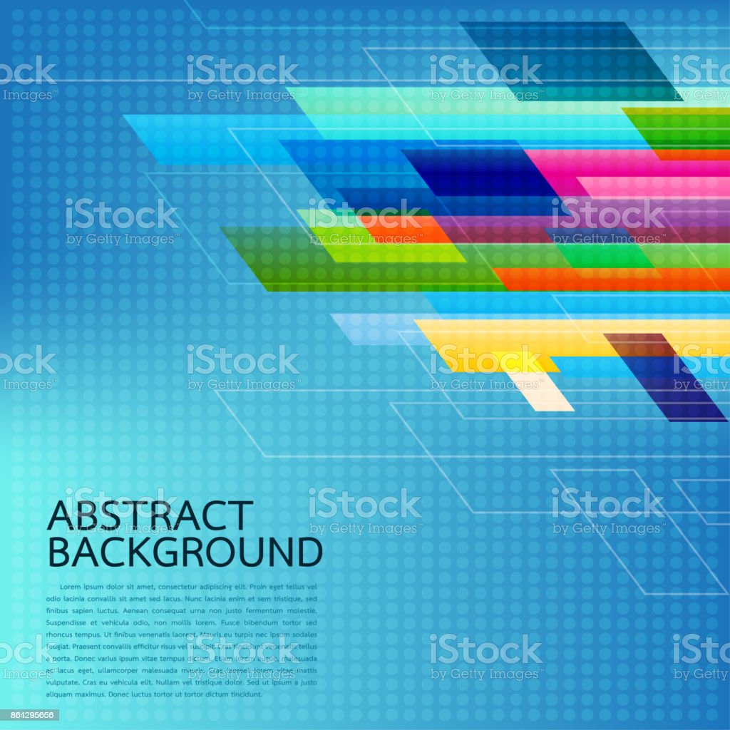 Abstract Geometric background . High technology computer innovation on the blue background. Vector illustration eps10. royalty-free abstract geometric background high technology computer innovation on the blue background vector illustration eps10 stock vector art & more images of abstract